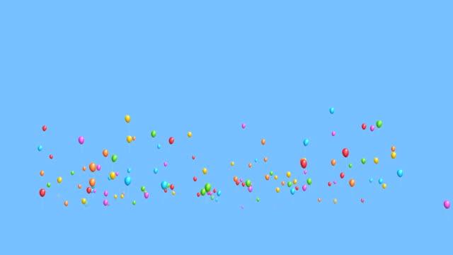 Rising balloons video