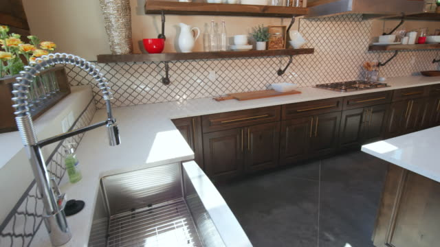 Rising from Sink to Large Modern Rustic Kitchen video