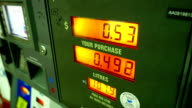 Rising gas prices on Chevron gas station pump scree video