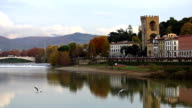 River Arno and Florence, Italy. video