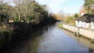 River Avon Christchurch Dorset England UK video