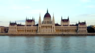 River Danube and Parliament building Budapest video