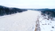 River Daugava in winter video