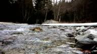 River flow in winter video