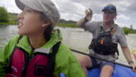 River guide teaches young woman video