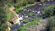 river in Cathedral peak state forest - Aerial View - KwaZulu-Natal,  uThukela District Municipality,  Okhahlamba,  South Africa video