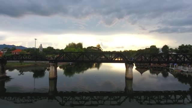 River Kwai Bridge during sunset video