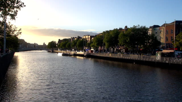River Liffey - Dublin, Republic of Ireland video