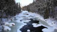 River melting at spring season video