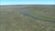 River Modder  - Aerial View - Orange Free State,  Lejweleputswa District Municipality,  Tokologo,  South Africa video