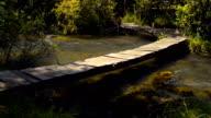 River, mountains, nature bridge crossing.Crimea. video