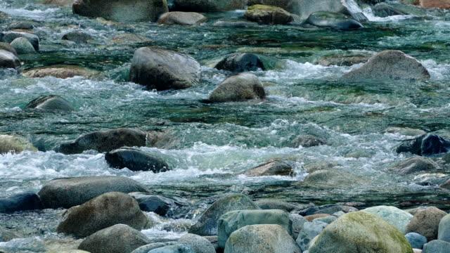 River Rapids Over Colorful Rocks video