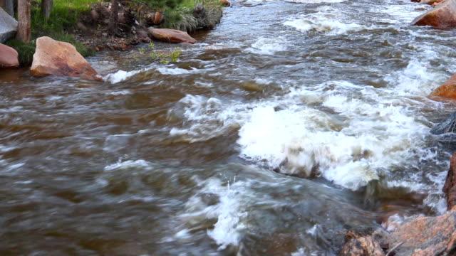 River running through Rocky Mountain National Park video