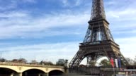 River Seine and Eiffel Tower in Paris video