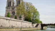 River Seine and Notre Dame Cathedral Paris, France video