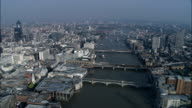 River Thames And Bridges  - Aerial View - England, Greater London, City of London, United Kingdom video