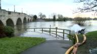 River Thames flooding video