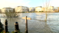River Thames Flowing Quickly video