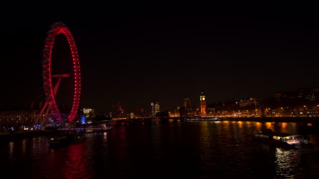River Thames london eye westminster video