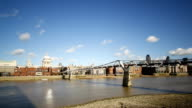 River Thames Time Lapse with Millennium Bridge video