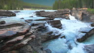 River waterfalls in Jasper National Park video