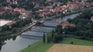 River Weser And Hoya  - Aerial View - Lower Saxony,  Germany video