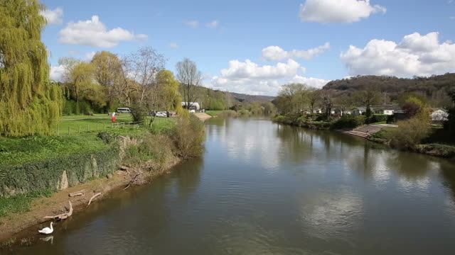 River Wye Monmouth Wales UK Wye Valley view video