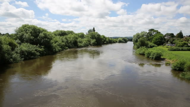 River Wye running through Ross-on-Wye Herefordshire England uk video
