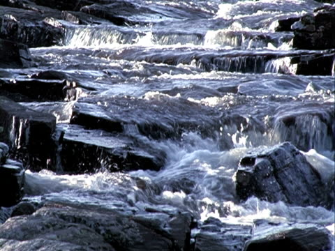 Riverfall background + sound. Progressive Frames video