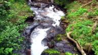 Riverfall Over Rocks Downstream video