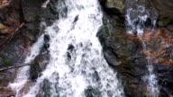Riverfall Over Rocks Upstream video