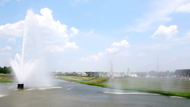 Riverscape Fountains in Dayton, Ohio turning off video