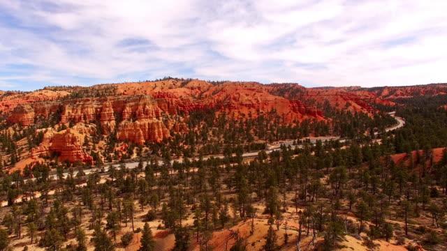 AERIAL Road among sedimentary rocks video
