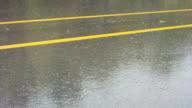 Road and rain video