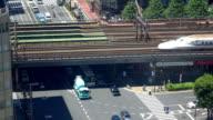 Road and train bridge -4K- video