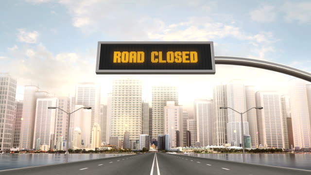 Road Closed Traffic Sign video