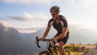Road Cycling at Sunset video