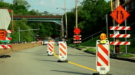 Road during the reconstruction. Signes and marks. video