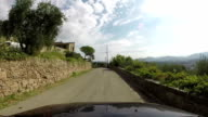 Road in a small village in Tuscany video