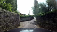 Road in a small village, Tuscany video