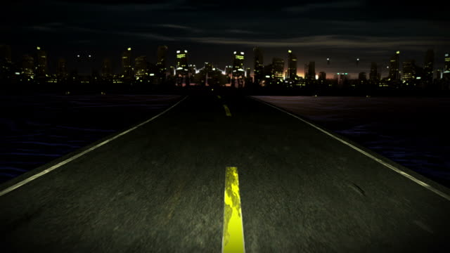 Road in city video
