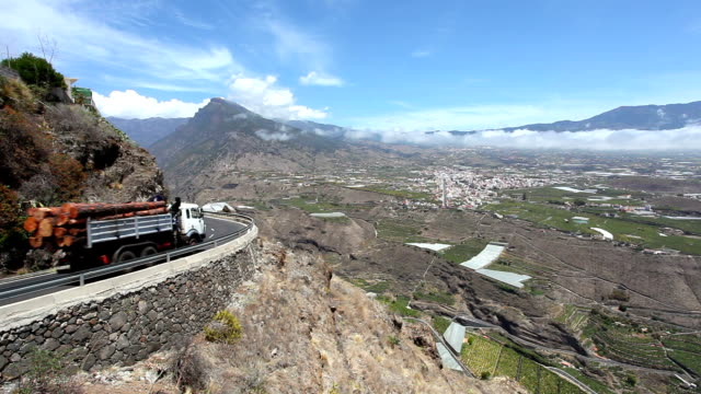 Road in La Palma, Canary Islands video
