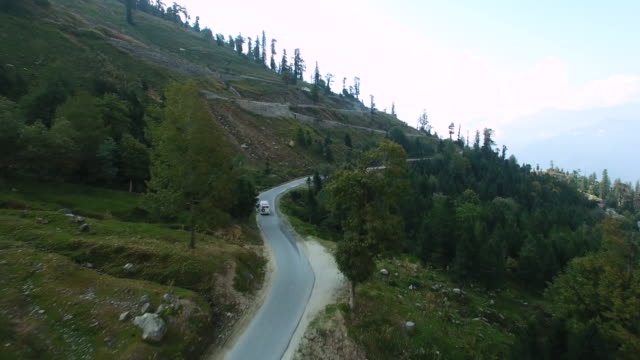 Road in mountains Himalayas. Spiti Valley, Himachal Pradesh, India video
