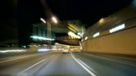 Road Rage Barcelona Night City Drive Cameracar Time Lapse video