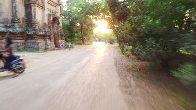Road ride in Old Bagan video