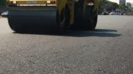 Road roller is moving. video