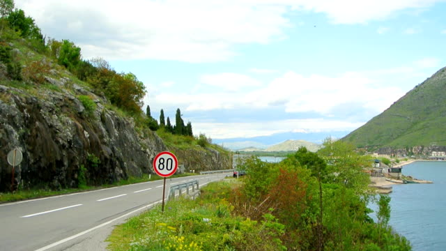 Road sign 'speed limit of 80 km video