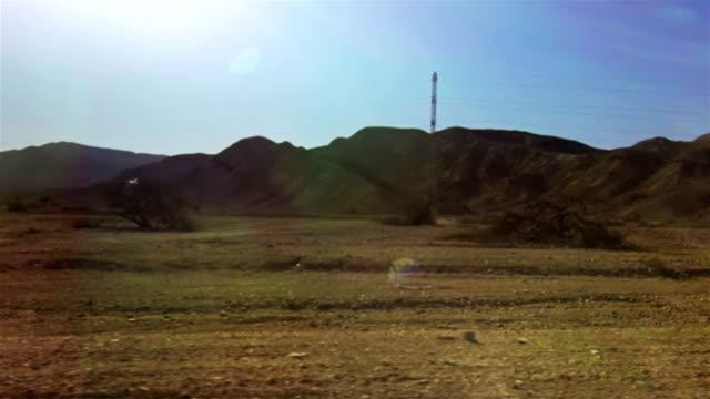Road through the desert video