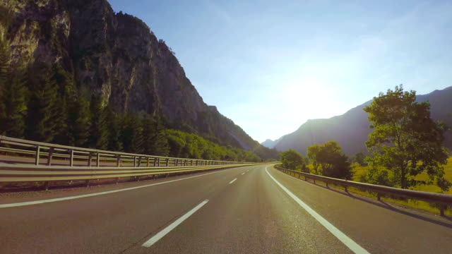 road through the Italian Alps video