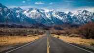 Road to Sierra Nevada Mountains in California, USA video